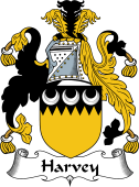 Irish Coat of Arms for Harvey or Hervey