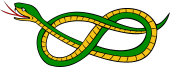 Serpent Fretted in the Form of a Knot