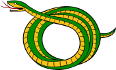 Serpent Bowed-Embowed Debruised With The Head