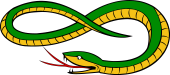 Serpent Head Reversed, Reguardant Tail Embowed