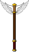 Rod of Asclepius (without snakes)