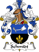 German Wappen Coat of Arms for Schmidt