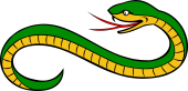 Serpent Reversed Head Reguardant Tail Embowed