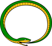 Serpent Reversed Embowed Biting His Tail