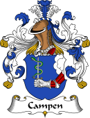 German Coat of Arms for Campen (Von)