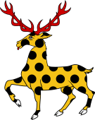 Stag Trippant or Passant Pellety