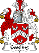 English Coat of Arms for Goseling or Goselyn