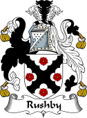 English Coat of Arms for Rushby or Rusheby