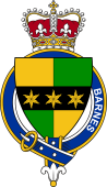 British Garter Coat of Arms for Barnes (England)