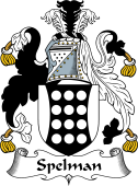 English Coat of Arms for Spelman or Spilman
