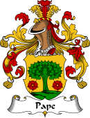 German Coat of Arms for Pape