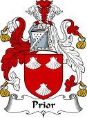 English Coat of Arms for Prior or Pryer