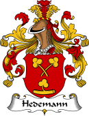 German Wappen Coat of Arms for Hedemann