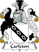 English Coat of Arms for Carleton or Charlton