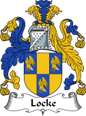 English Coat of Arms for Locke