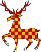 Stag Trippant or Passant Checkie