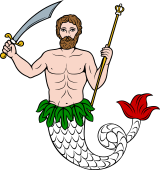 Merman with Sword and Sceptre