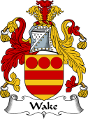 English Coat of Arms for Wake