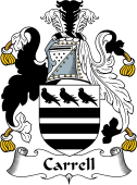 English Coat of Arms for Carrell