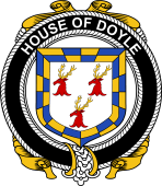 Irish Coat of Arms Badge for the DOYLE family
