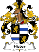 German Wappen Coat of Arms for Hieber