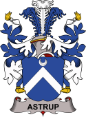 Danish Coat of Arms for Astrup