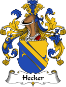 German Coat of Arms for Hecker