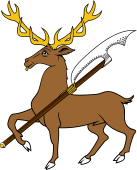 Stag Trippant Holding Pole Axe