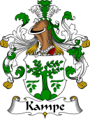 German Wappen Coat of Arms for Kampe