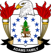 American Coat of Arms for Adams