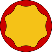 Circular Shield-Bordure Wavy