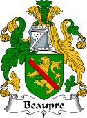English Coat of Arms for Beaupre