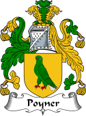 English Coat of Arms for Poyner
