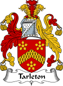 English Coat of Arms for Tarleton