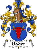German Coat of Arms for Bader