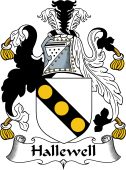 English Coat of Arms for Hallewell