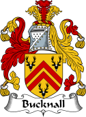 English Coat of Arms for Bucknall or Bucknell