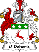 Irish Coat of Arms for O'Doherty or Dogherty