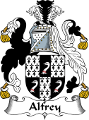 English Coat of Arms for Alfrey