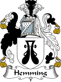 English Coat of Arms for Heming or Hemming