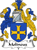 English Coat of Arms for Molineux or Molyneux