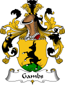German Wappen Coat of Arms for Gambs