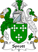 English Coat of Arms for Sprott
