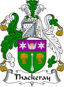 English Coat of Arms for Thackeray or Thackery