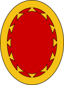 Oval Shield-Bordure Dovetailed