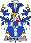 Danish Coat of Arms for Arenstorf or Arnstorph