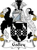 English Coat of Arms for Gallay or Galley