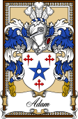 Scottish Coat of Arms Bookplate for Adam