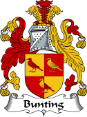 English Coat of Arms for Bunting