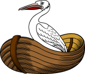 Pelican Issuing Out of Boat